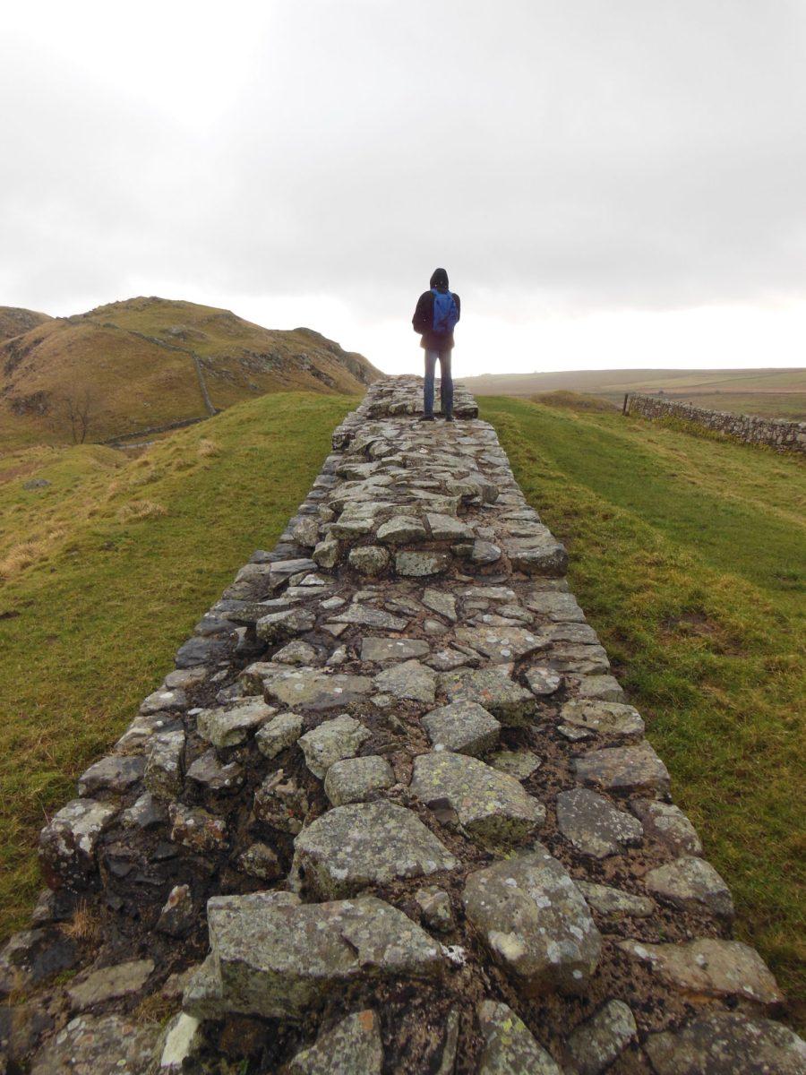 Nathanael on Hadrian's Wall.