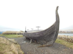 Viking boat replica, Unst, Shetland