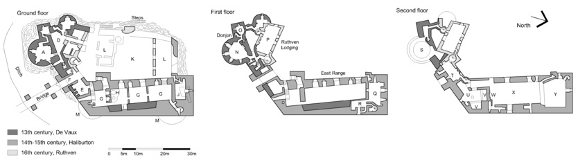 Dirleton Castle Layout, Scotland