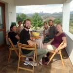 Hulya, Ashleigh, Nathanael and WWOOFers Kabakum, Turkey