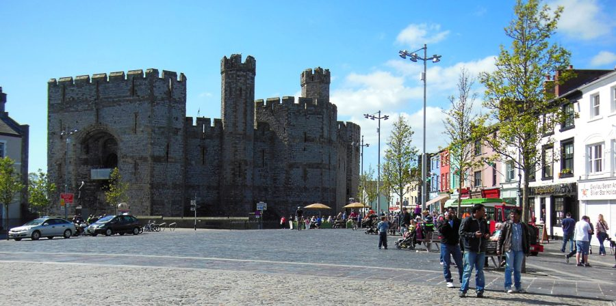 Caernarfon town and castle, Wales