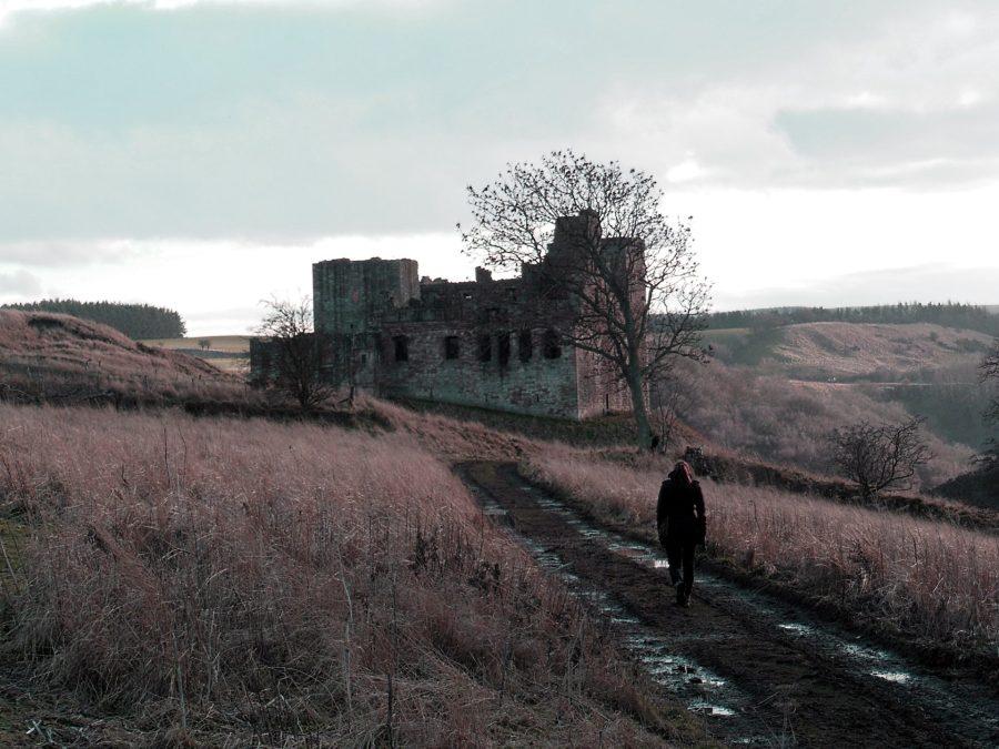 The spooky ruins of Crichton, Scotland