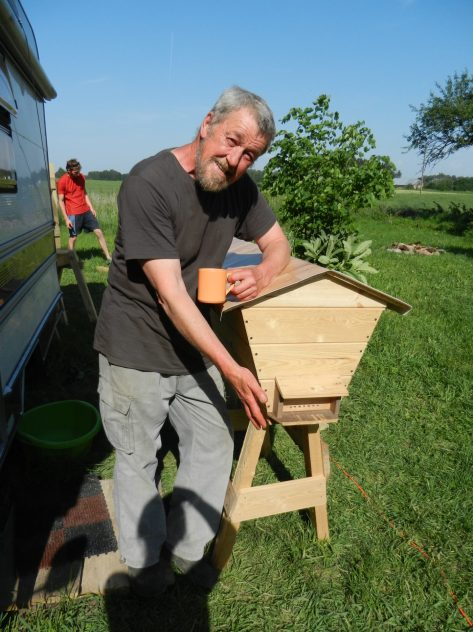 John made a comfortable bee hive, Poland