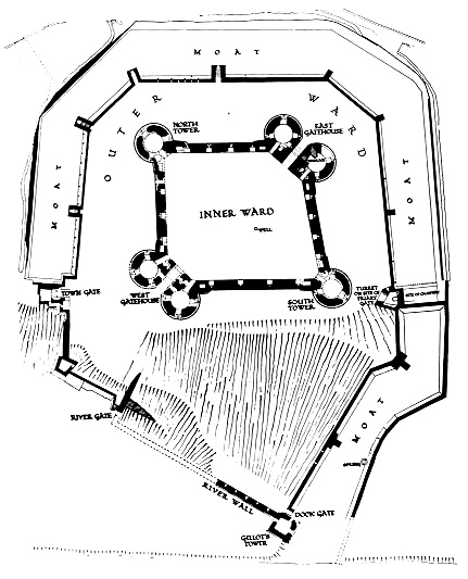 Rhuddlan castle's design