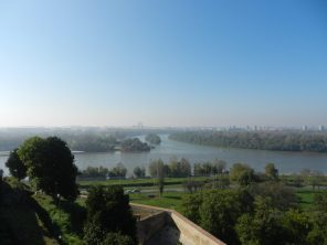 Overlooking the Danube from Belgrade Fortress