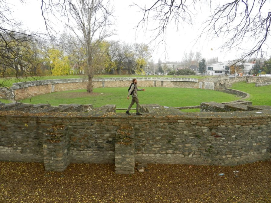 Taking a stroll along the Ampitheatre