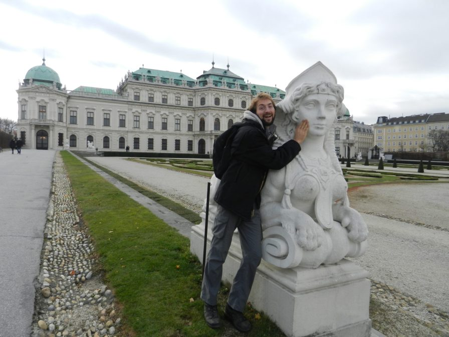 Nathanael at Belvedere Palace, Vienna, Austria