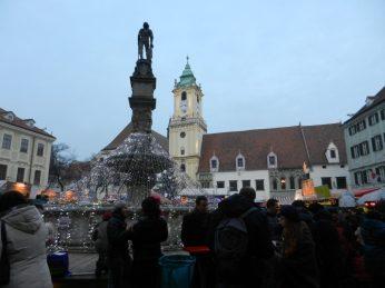 Roland Fountain and Old Town Hall, Bratislava, Slovakia