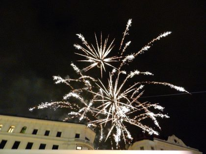 Christmas Eve Fireworks, Brno, Czech