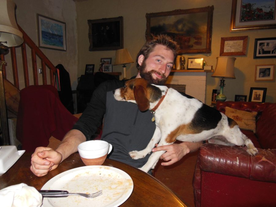 Nathanael and Muffin in Greystones, Ireland