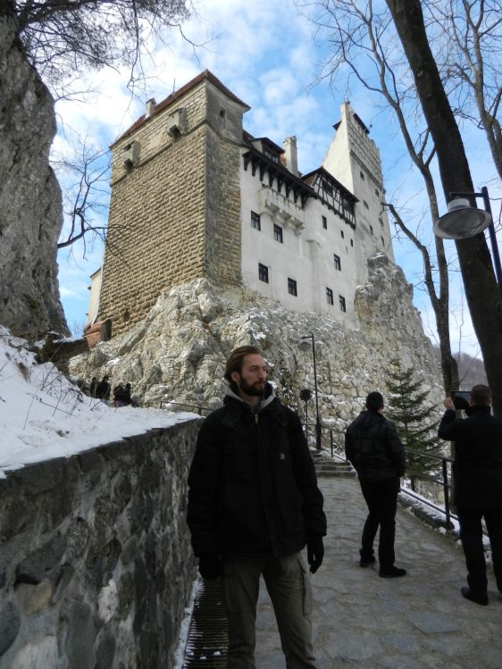 Nathanael at Bran Castle, Romania