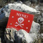 Danger mine! Hum Hill, Mostar, Bosnia