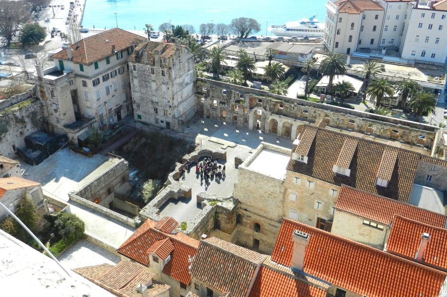 City within the walls of Diocletian, Split, Croatia