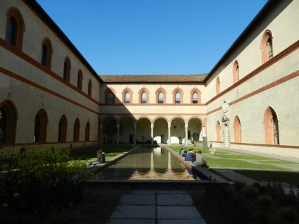Sforza Castle Courtyard