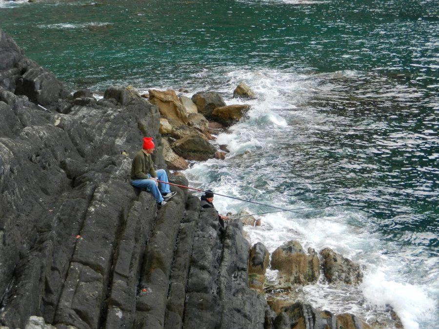Fishermen, Cinque Terre, Italy