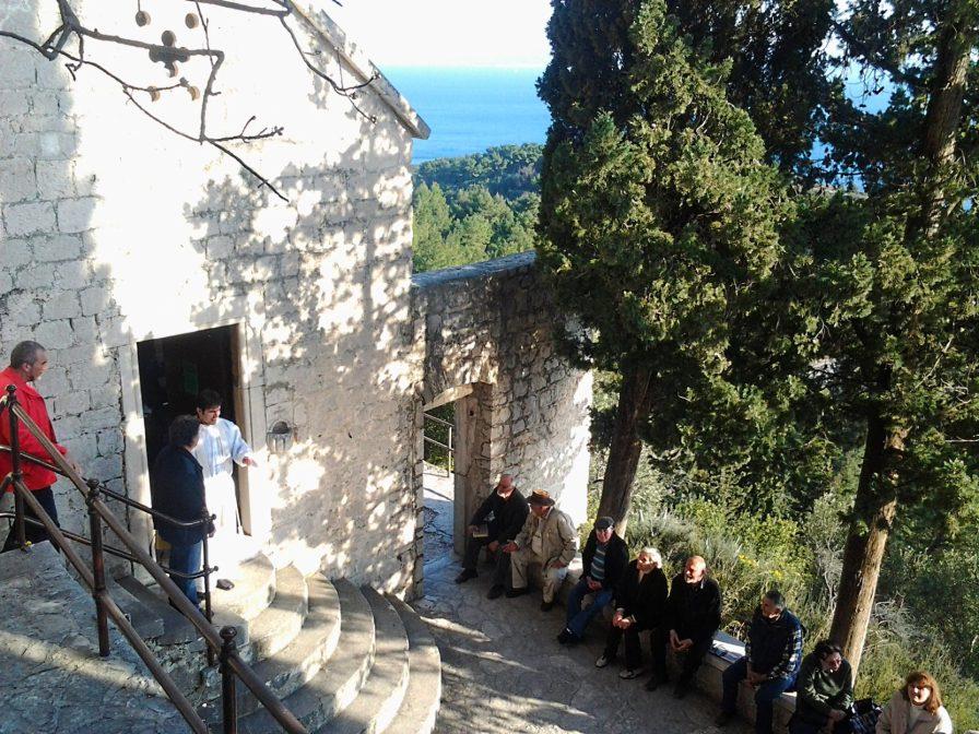 Mass at Church of St. Jerome, Marjan Park, Split, Croatia