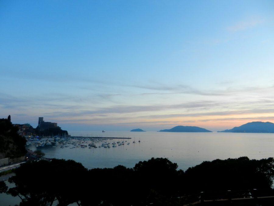 Sunset in Lerici, Italy