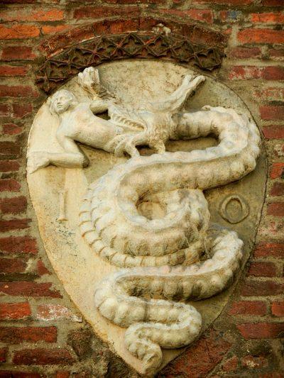 Visconti emblem, Milan, Italy