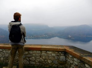 Bled Castle Terrace, Slovenia