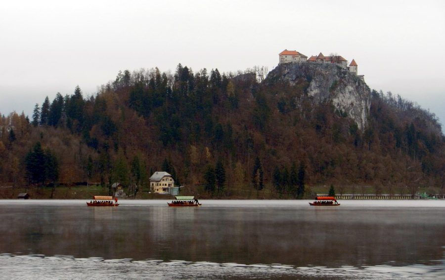 Castle and Lake Bled, Slovenia