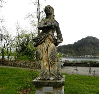 Statue of Mary Magdelene, Bled Island, Slovenia