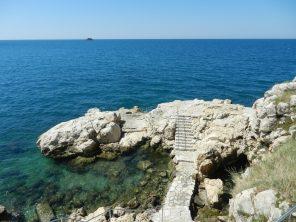 Swimming terrace, Rovinj, Istria, Croatia