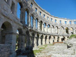 Inside Pula Arena, Istria, Croatia
