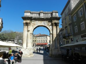 The Golden Gate, Pula, Istria, Croatia