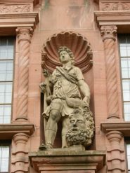 David and Goliath Statue, Heidelberg Castle, Germany