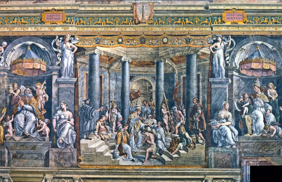 Baptism of Constantine by Gianfrancesco Penni, Vatican Museum, Italy