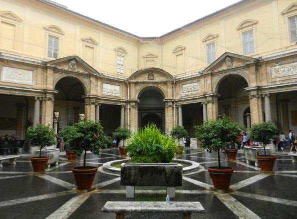 Octagonal Courtyard, Vatican, Italy