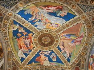 Stanza di Eliodoro Ceiling, Raphael Rooms, Vatican, Italy