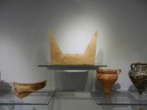 Horns of Concecration, Heraklion Archaeological Museum, Crete, Greece