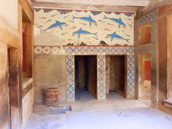 Dolphin Fresco, Knossos, Crete, Greece