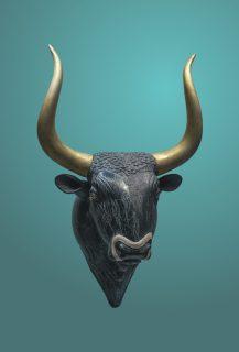 Stone Minoan Bull Sculpture dated 1600-1450 BCE