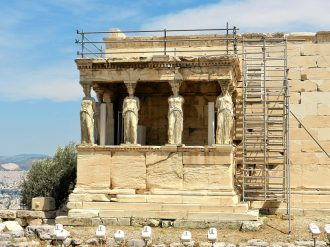 The Porch of the Caryatids, Temple of Erechtheion, Acropolis of Athens, Greece
