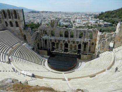The Odeon of Herodes Atticus, Acropolis south slope, Athens, Greece