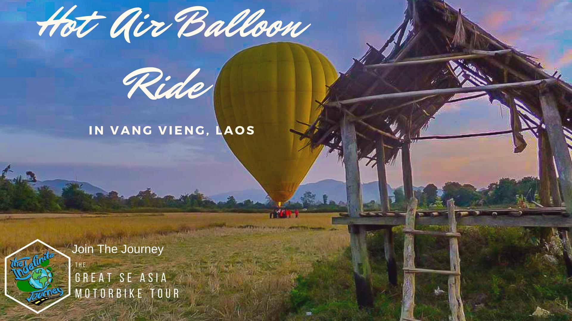 Hot Air Balloon Ride In Vang Vieng, Laos
