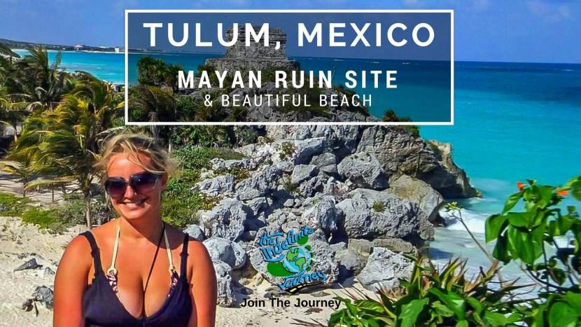 Tulum, Mexico - Mayan Ruin Site and Beautiful Beach
