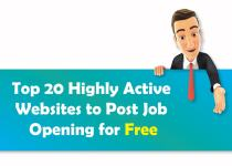 Top 20 Highly Active Websites to Post Job Opening for Free