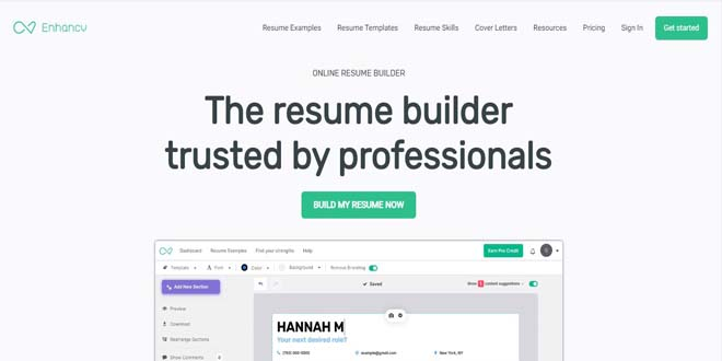 EnhanCV Resume Builder