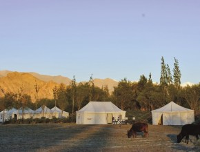 Tsermang camp en fin de journée