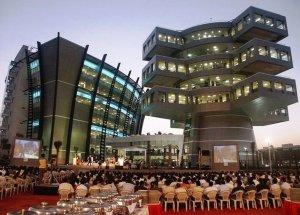 Deux immeubles futuristes à Bangalore, Inde