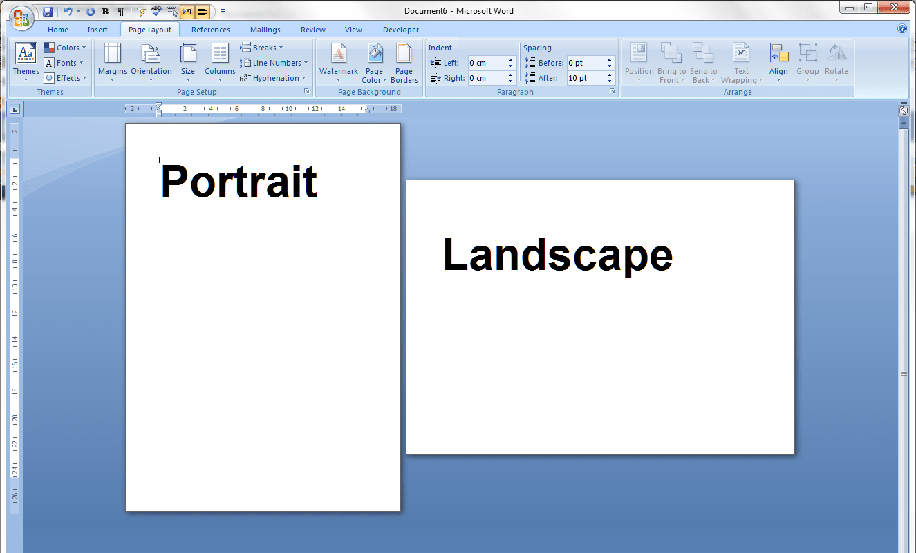 How To Change Page Layout To Landscape In Portrait Ms Word