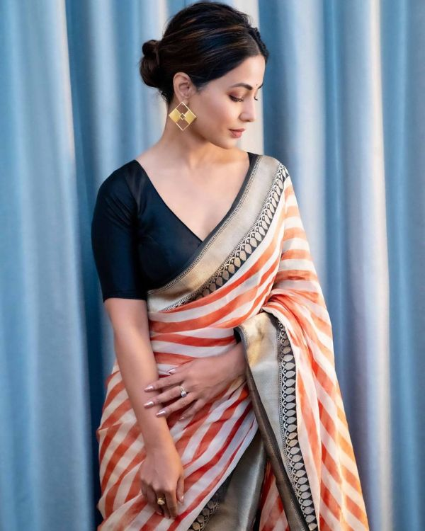 Hina Khan looks gorgeous in these Saree photos: Check it ...