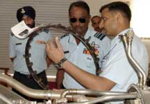 Air Marshal Barbora, AOC-in-C, WAC, Air Force during his inspection visit at Air Force Highground on Thursday