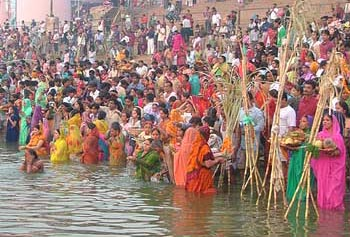 Chhath puja is being celebrated today