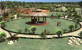 Garden Hut, Garden of Palms in Chandigarh.