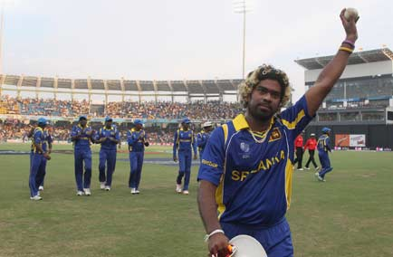 Lasith Malinga became the first player in ICC Cricket World Cup history to take two hat-tricks