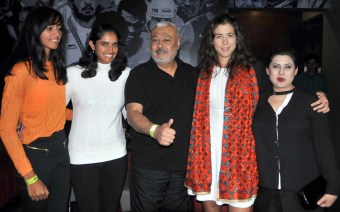 Punjab Marshalls Rishika Sunkara, Owner Gurpreet Singh Kiki, Garbine Muguruza and Co-Owner Kudrat Tamber at the after party of Punjab Marshalls